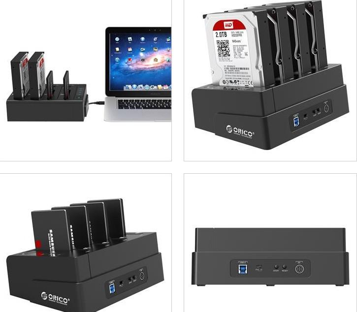 Box gắn 2/5/10 HDD/ Dock chép Karaoke, Usb 3.0, Hub, Card.. ORICO - 33